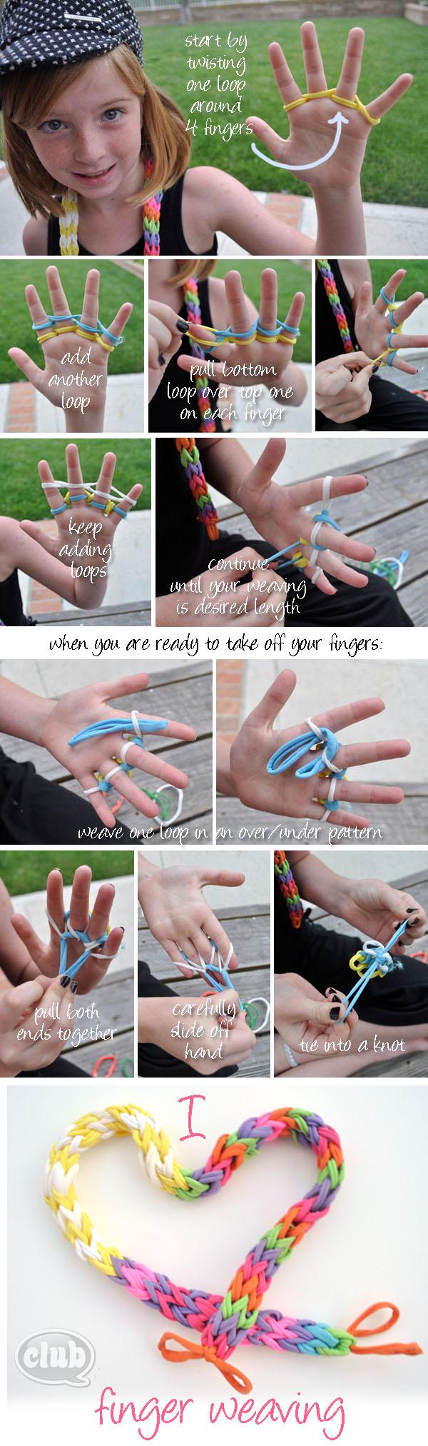 Finger Weaving Craft Loops