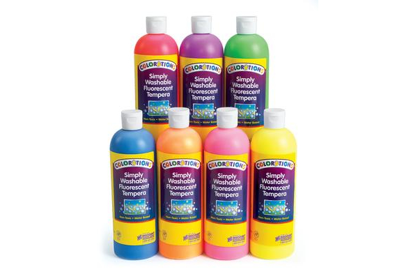 FSWTSET – Colorations Simply Washable Fluorescent Tempera