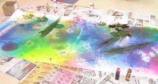 Spray Color Mural 3