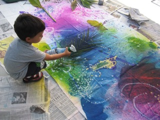 Spray Color Mural 5